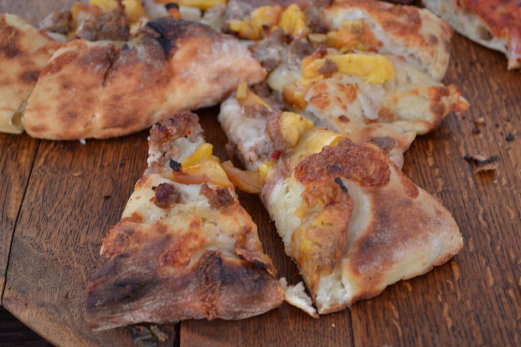 Tastebud's Peach Pizza
