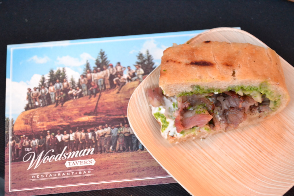 The Woodman's smoked lamb gyro served on Roman Candle flatbread