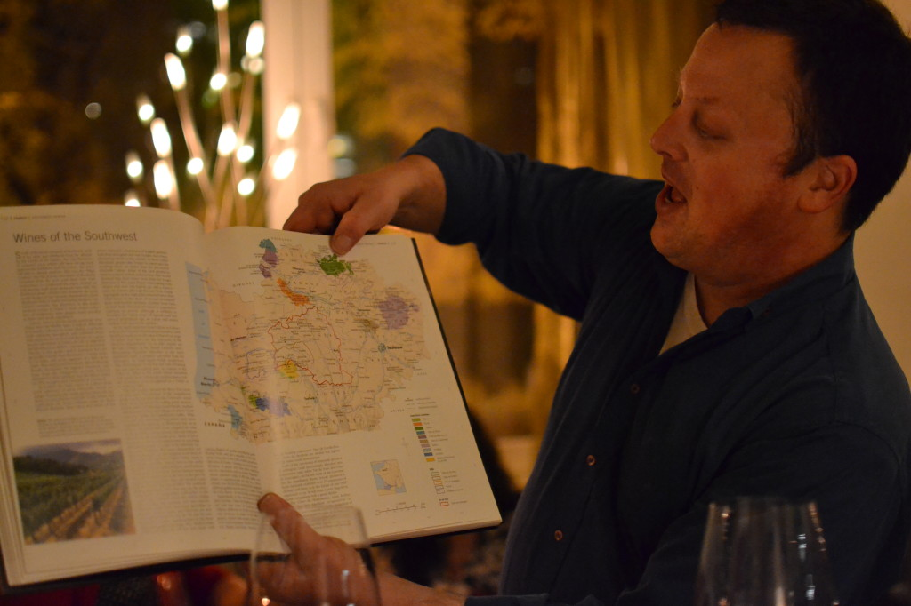 Josh teaching us about the region in France where you can find Cahors wines