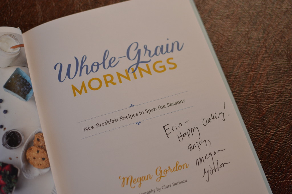 Love getting autographed copies of cookbooks!