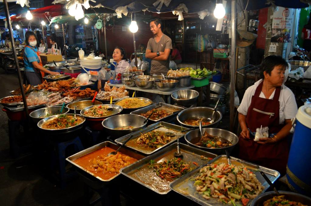 Food in Thailand. Photo credit: my brother, Marshall Hoffman.