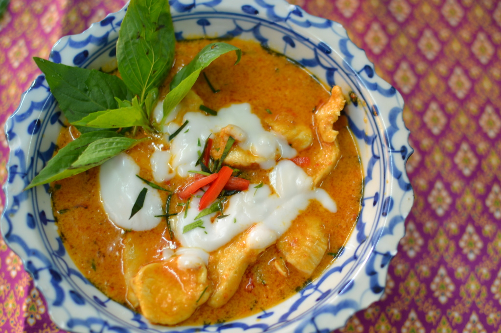 Delicious Panaeng Curry made during my cooking class at Sompong Thai Cooking School