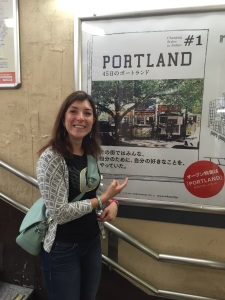 Found out Portland's Navarre is opening a restaurant in Tokyo after seeing their ads in a subway station!