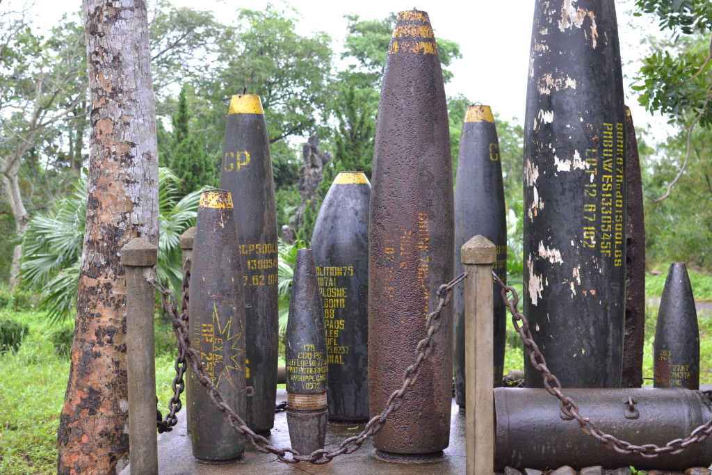 Bombs left over from the war