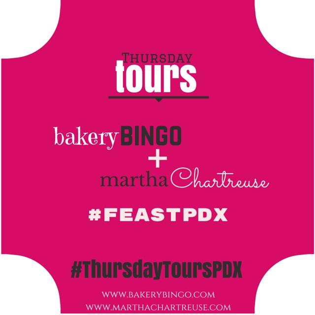 #ThursdayToursPDX #FeastPDX Bakery Bingo Martha Chartreuse